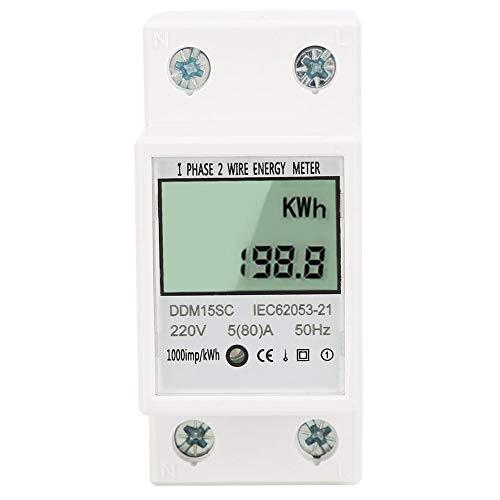 Preisvergleich Produktbild Einphasen-Din-Schiene,  5-80A Ddm15Sc Lcd-Digitalanzeigen-Stromzähler für elektronisches Energie-kWh-Messgerät