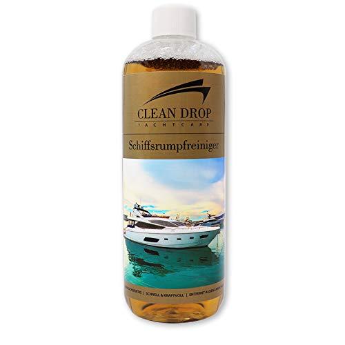 ABACUS CLEAN Drop 1000 ml (2428) - Schiffsrumpfreiniger GFK-Reiniger Gelcoat-Reiniger Wasserpass-Reiniger Bootsreiniger Rumpfreinger Muschelkalk Rost Oxidschichten und Vergilbungs-Entferner