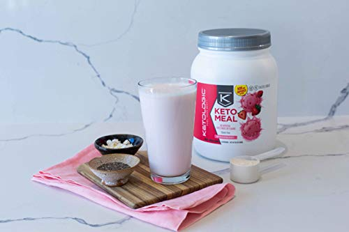 Product Image 5: KetoLogic Keto Meal Replacement Shake with MCT, Strawberry | Low Carb, High Fat Keto Shake | Promotes Weight Loss & Suppresses Appetite | 20 Servings