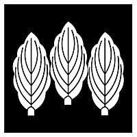 カッティングステッカー 家紋71 三枚並び柏 20cm (白)
