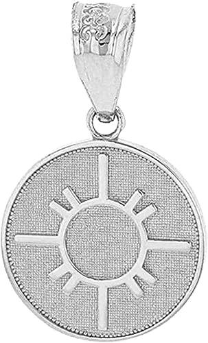 NC110 Collar con símbolo del Sol, medallón de Disco geométrico, Colgante de Plata esterlina, Collar con Colgante Retro de Moda Simple para Mujer, Collar con Colgante para niñas YUAHJIGE