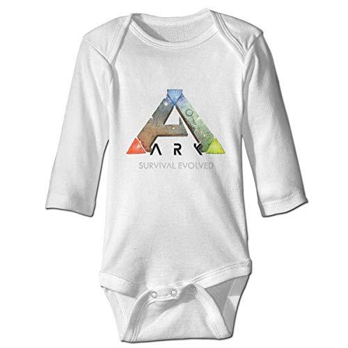 WlQshop Unisex Ark Sopravvivenza Evolved Baby Body Body Manica Lunga Tutina Tutina In Cotone bianco 6 Mesi