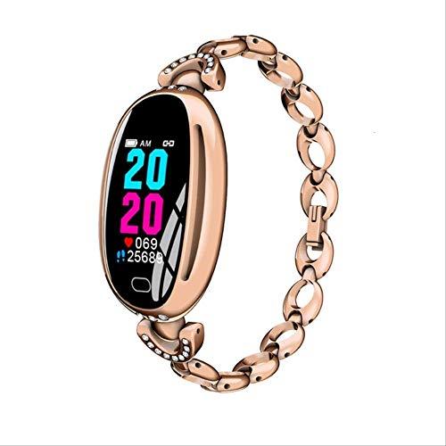 YUJY Smartwatch E68 Smartwatch Damen 0,96 Zoll Herzfrequenzmesser 14 Tage Standby Health Armband IP67 Wasserdichtes Sport Fitness Brecelet Gold