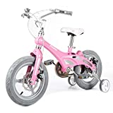 Kids' Bikes Cycling Children's Bicycle Kindergarten Trolley Portable Bicycle Suitable for Children of All Heights Kids' Bikes & Accessories (Color : Pink, Size : 12inches)