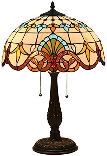 AWCVB Tiffany-Stil Barock-Schreibtisch-Lampe Für Schlafzimmer Nachttischlampe Wohnzimmer-Sofa Light Bar Cafe Restaurant Hotel