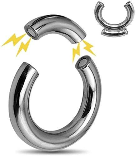 YBHNB Magnetische Bondage Hodenring Für Männer, Metall Edelstahl Hodenstrecker Ballstretcher Hodengewicht Keuschheit Ringe, Verzögert Erotik Penis/Cock Ring Übungsring Enhancer,Innen(Ø).