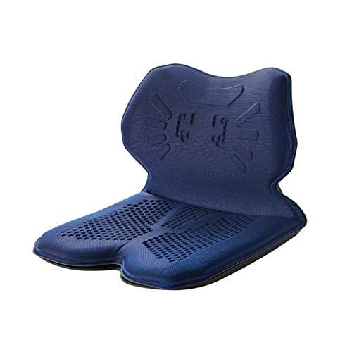 KEKOR Cojín para silla de oficina, cojín de apoyo lumbar, sedentario, correctivo, postura sentada, descompresión, cojín de asiento antijoroba, Elieve Sciatica, 200 kg, 42 x 40 x 30 cm (color: azul)