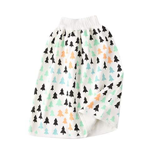 Baby Urinary Rock Bequeme Stoffwindeln Wiederverwendbare Windel Rock Shorts 2 in 1 Jungen Mädchen Hohe Taille Wasserdicht Trainingsrock, I, 0-4 Jahre