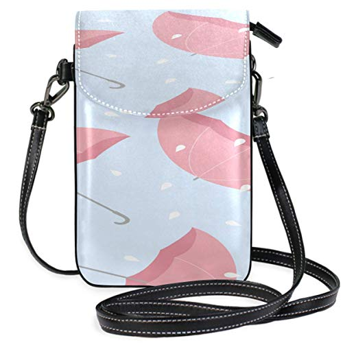 Lawenp Leather Phone Bag Men Creative Colorful Romantic Umbrella Print Phone Wallet Crossbody Purse Cell Phone Case Bag Purse Wallet Travel Passport Bag Handbags For Women