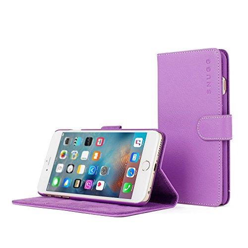 Snugg, Custodia di Cuoio con Garanzia a Vita per iPhone 6s Plus, Viola