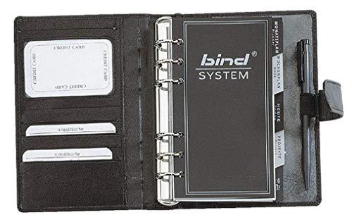 Bind - A6 Systemplaner Nappa-Leder, schwarz