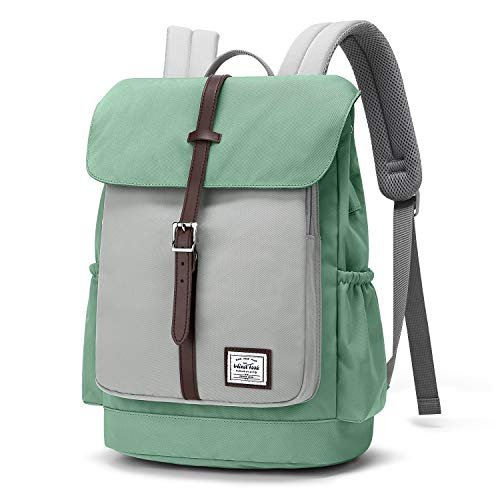 WindTook Rucksack Damen Schulrucksack Daypack Tagesrucksack mit USB Anschluss für 14 Zoll Laptop , Uni Büro Freizeit Arbeit Schule, 28 x16 x 37 cm, Cyan