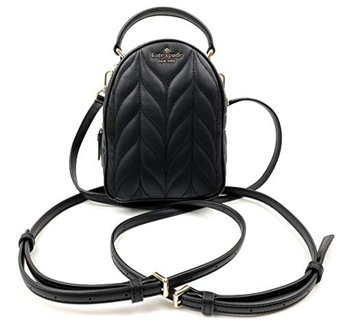 Kate Spade New York Briar Lane Quilted Mini Convertible Backpack (Black)