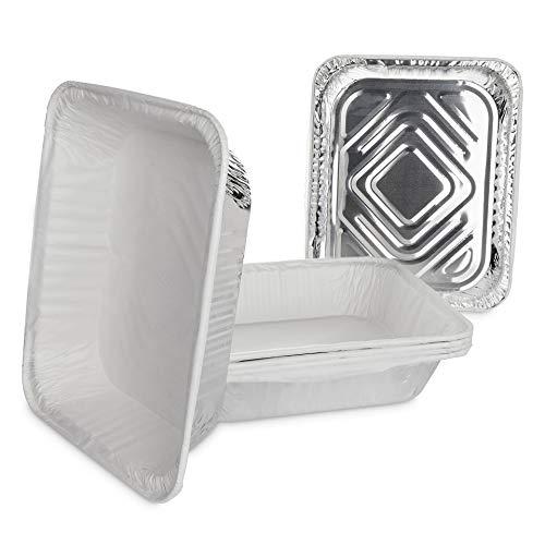 Life Story Barquettes en Feuille d'Aluminium Jetables avec Premium Parchemin Papier Cuisson, 39.5 x 33.5 x 5 cm, Pack de 10
