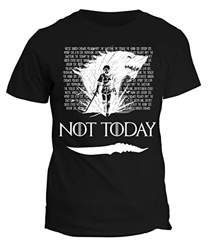 Tshirt Game of Thrones Arya Stark - Not Today - Got 8 - Season 8 - Il Trono di Spade - Serie TV