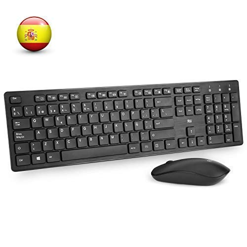 Rii RK200 Combo Ratón Teclado Inalámbrico Android/Windows/Mac/Linux