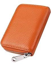 GADIEMKENSD本革製カードケース財布RFIDスキミング防止レザー男女兼用カード入れ(デザインが多様である)
