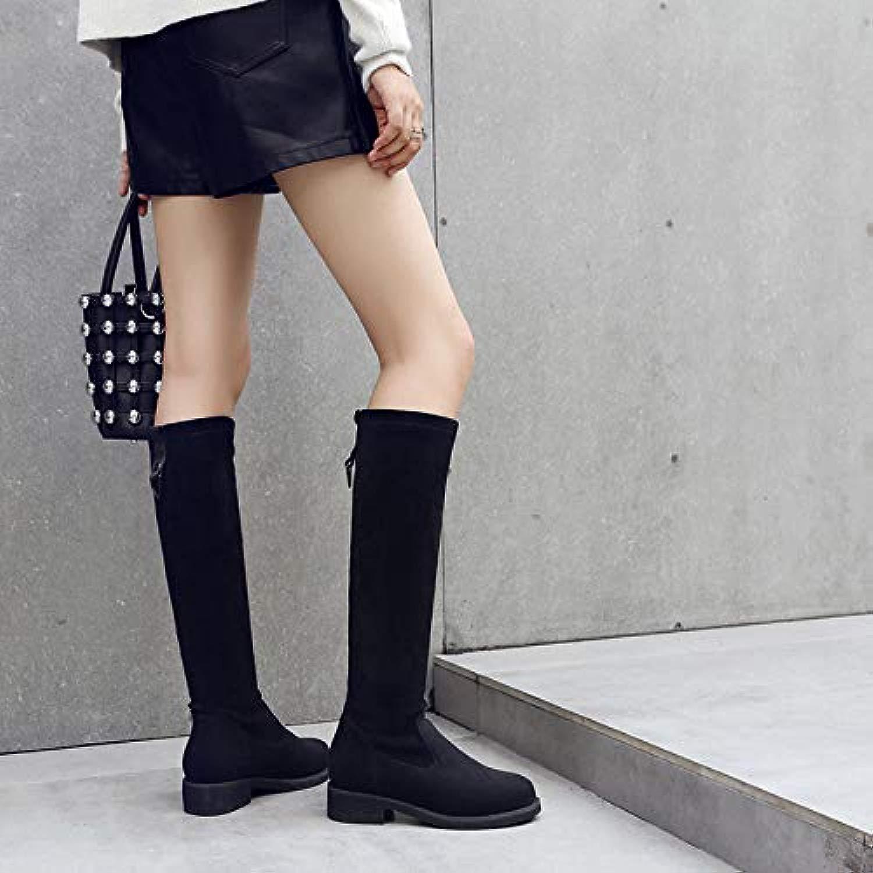 Hohe Stiefel Frauen Herbst Und Winter Sleeve Flat Mit Stiefel Abnehmen Lange Stiefel Schafe Samt Kniestiefel