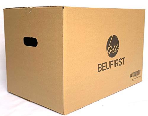 Packs de 10 Cajas XL (550x350x350 mm) Grandes con Asas Canal Doble 5 Capas Alta Calidad Reforzado, muy Resistentes y Reutilizables, para Transporte, Mudanza o Almacenaje. 67 Litros (10)