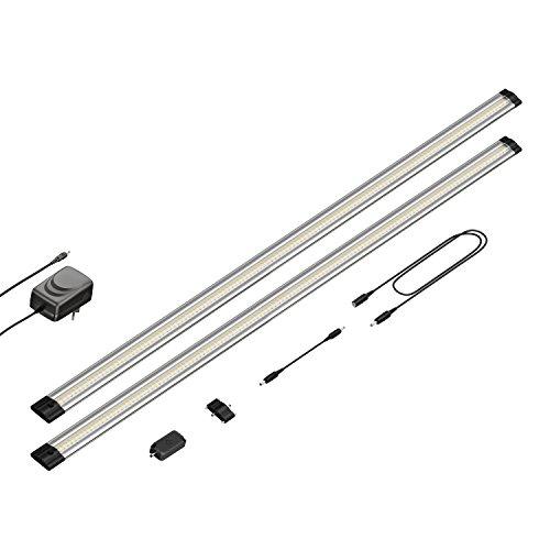 parlat LED Unterbau-Leuchte Siris, Touch-Dimmer, flach, je 90cm, 850lm, warm-weiß, 2er Set