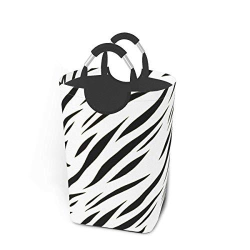 mallcentral-EU Canasta de lavandería con diseño de Tigre Monocromo con diseño de Animales Cesto de lavandería Plegable 50L con Asas Contenedor de Lavado de Ropa
