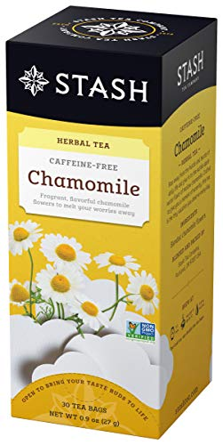 Stash Tea Chamomile Herbal Tea 30 Count (Pack of 6), Premium Herbal Tisane, Sweet Soothing Herbal Tea, Enjoy Chamomile Tea Hot or Iced, Ideal to Drink at Bedtime