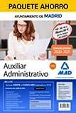 Paquete Ahorro Auxiliar Administrativo del Ayuntamiento de Madrid. Ahorra 60 € (incluye Temarios 1 y 2; Test; Prueba de Ofimática (Office Professional ... del primer ejercicio y acceso a Curso Oro)
