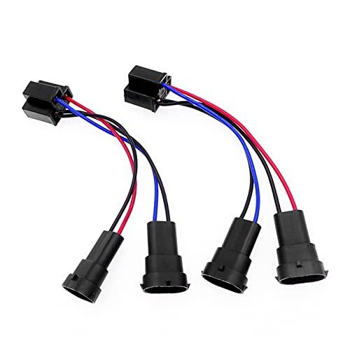 Adaptador de conversión de automóviles Para H4 a H11 Azulejos de alambre Accesorios para automóviles 1 par de cabezal de cabeza Arnés de luz Dual Haz conversión Cable de conversión Adaptador de enchuf