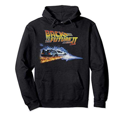 * NEW * Back To the Future 2 Fire Trails Unisex Hoodie, 4 Colors, S to 2XL