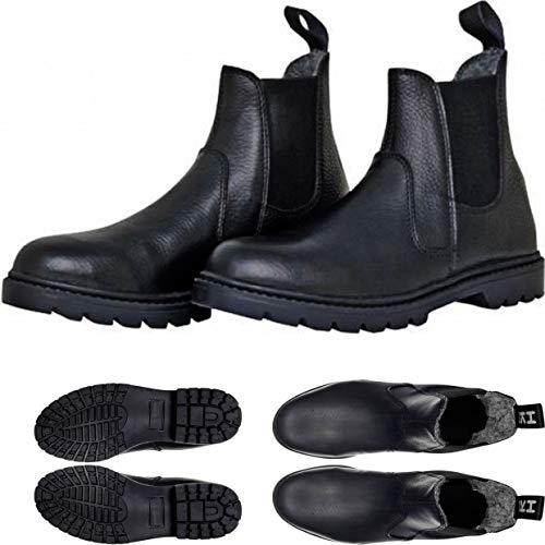 HKM Botines de invierno para adultos 5037, Groenlandia, botas de equitación, unisex, 36-45, color negro, talla 43