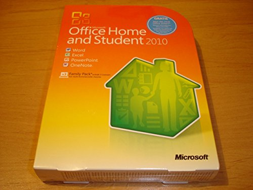 Microsoft Office Home and Student 2010 - Family Pack - 3PCs/1User Deutsch