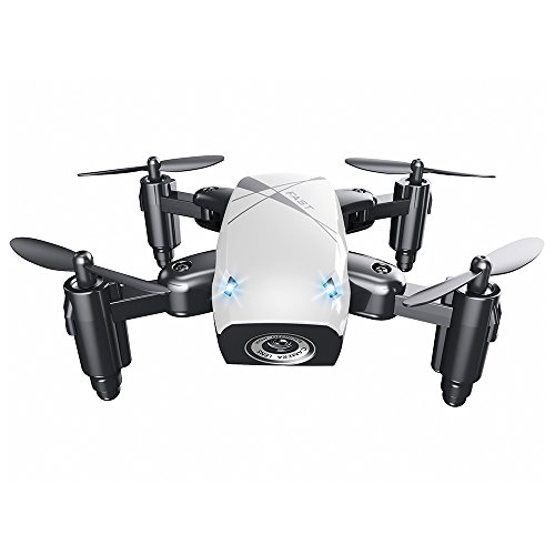 EISHOW S9 Micro Foldable RC Quadcopter Drone RTF 2.4GHz Wireless Remote Control 4CH 6-axis Gyro/Headless Mode/One Key Return / 3D Rollover (White, WiFi FPV 0.3MP Camera + Altitude Hold)