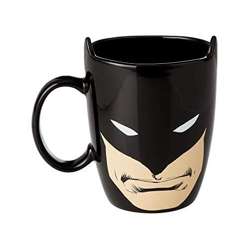 Enesco Our Name is Mud DC Comics Batman Sculpted Coffee Mug, 16 oz, Black