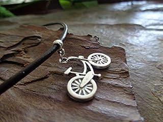 ✿ BIKE COLLAR DE BICICLETA EN CUERO MARRÓN collar collar marrón, cadena de cuero, amante de la bicicleta, protección de la...