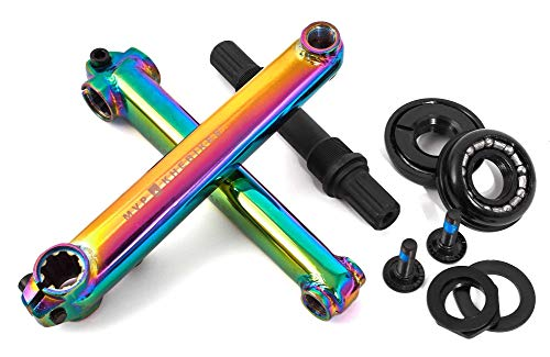 KHE MVP BMX Kurbel-Set 8T US BB CrMo 19mm Achse 170mm Arme Oil-Slick Jet-Fuel