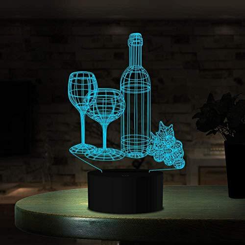 3D Illusie Lampoptische Illusie Lampgeschikt voor Slaapkamer Woonkamer-Perfect geschenk voor Kinderen Paar Jongens Halloween Zwart Vrijdag-Superhero Masker