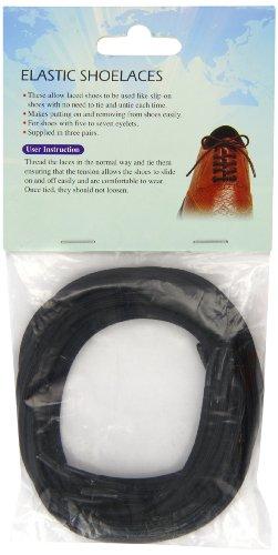 Elastische Schnürsenkel schwarz 3 Paar