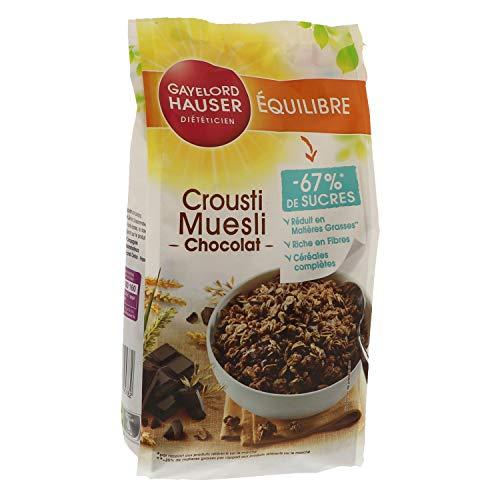 Gayelord Hauser Crousti Muesli Chocolat - Céréales complètes - 1 paquet 350 g