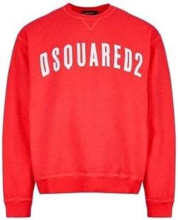 DSQUARED2 Cotton Printed Logo Pink Sweatshirt