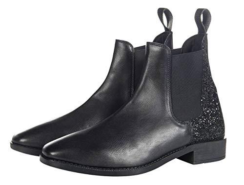HKM volwassenen laarzen -Black Glitter-9100 zwart 40 broek, 9100 zwart, 40