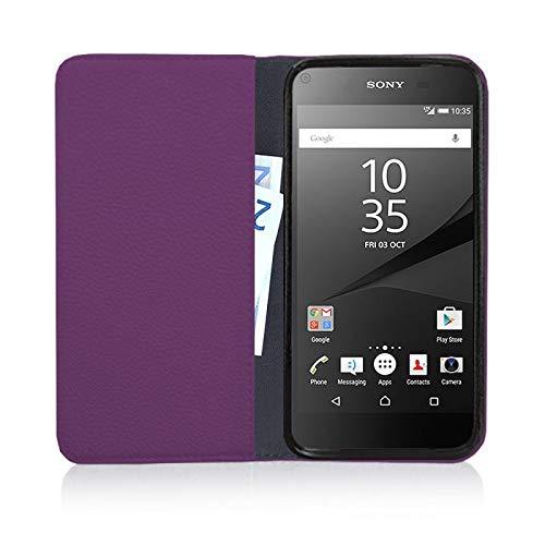 MOKASY Mate 7 Hülle kompatibel mit Huawei Ascend ☑️ Mate 7 ☑️ unzerbrechliche Schutzhülle Handyhülle aus Silikon mit Magnetverschluss und Fach Lila - 4