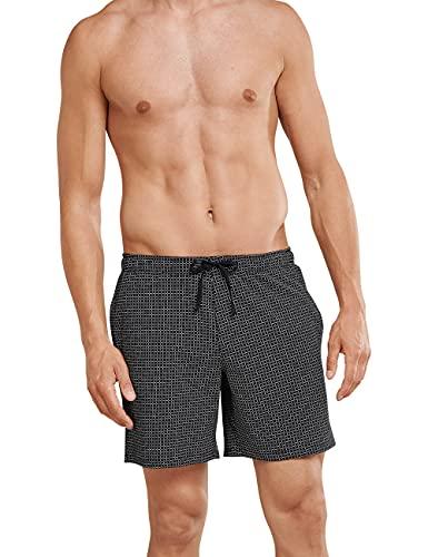 Schiesser Herren Mix & Relax Bermuda Schlafanzughose, Schwarz (Schwarz-Gem 006), XX-Large (Herstellergröße: 056)