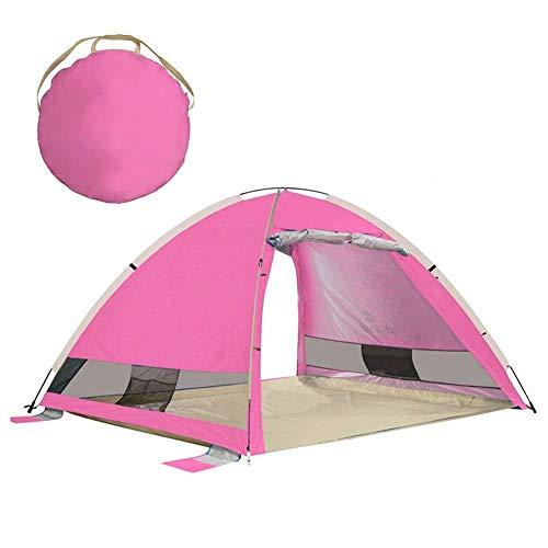 AYLS Tenda 3-4 Persone all'aperto Tende Automatiche Pop-Up Campeggio Impermeabile Tenda da Campeggio Protezione UV Tenda Impermeabile Tende Grandi per Famiglie,Pink