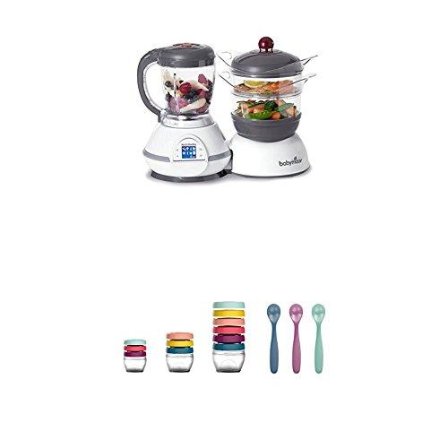Babymoov Nutribaby Classic A001114 - Procesador de alimentos para bebé, cereza + Babymoov Babybols...