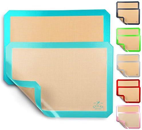 Zulay Kitchen 2 Pack Silicone Baking Mat Sheet Set Reusable Baking Mat Nonstick Half Sheet Baking product image