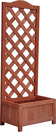 Abaseen Trädgård rektangulär träplanterare med gitter för vinstockar trädgård klättring blomma växt kruka låda trädgård uteplats trä spaljé panel