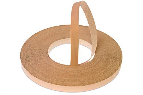 22mm Gedämpfte Buche Echt Vorgeklebtes Furnier-Randband - 50m Rolle für die Industrie Gehobene Qualität - Eisen-On Holz für Einfache DIY-Anwendung