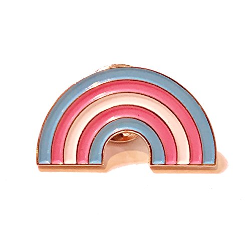Trans Pride Rainbow Lapel Pin