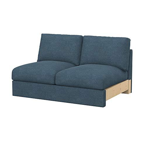 Soferia Funda de Repuesto para IKEA VIMLE módulos sofá de 2 plazas, Tela Strong Blue, Azul