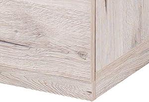 Movian - Tables de chevet Saale, 2tiroirs, Chêne Wellington (lot de 2) Couleur